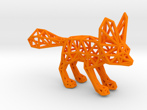 Fennec Fox (adult) in Orange Processed Versatile Plastic