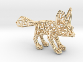 Fennec Fox (adult) in 14k Gold Plated Brass