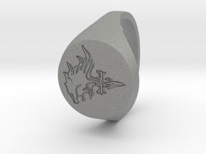 Lion Heart in Gray Professional Plastic: Medium
