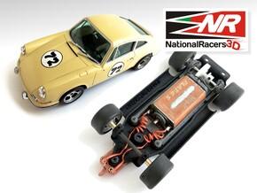 3D Chassis - MRRC Porsche 911 - Inline in Black Natural Versatile Plastic