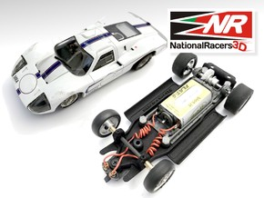 3D Chassis - MRRC Ford GT40 MK4 - Inline in Black Natural Versatile Plastic