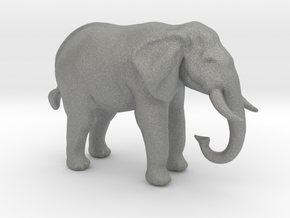 S Scale African Elephant in Gray PA12