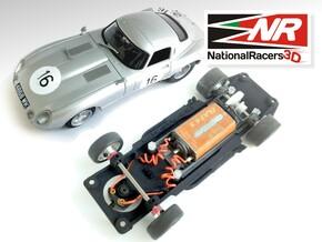 3D Chassis - Revell Jaguar E-Type - Inline in Black Natural Versatile Plastic