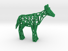 Okapi (adult male) in Green Processed Versatile Plastic