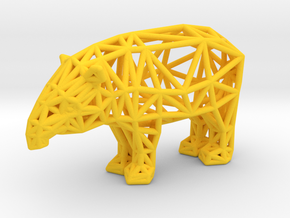 Baird's Tapir (adult male) in Yellow Processed Versatile Plastic
