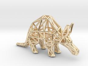 Aardvark (adult) in 14k Gold Plated Brass