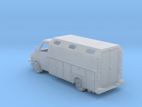 MOW Service Van Box Bed With Windows 1-87 HO Scale in Smooth Fine Detail Plastic