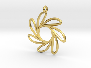 Seven water drop functions pendant in Polished Brass