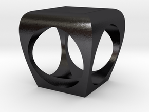 Square Cubed Original 2 in Polished and Bronzed Black Steel