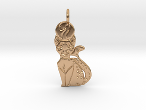 Ra - The Great Cat in Polished Bronze