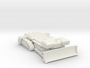 Planet dozer 285 scale in White Natural Versatile Plastic