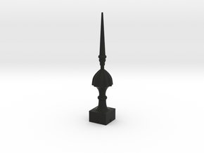 Signal Finial (Victorian Spike) 1:6 scale in Black Natural Versatile Plastic