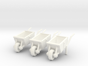 Medieval wheelbarrow 28mm in White Processed Versatile Plastic