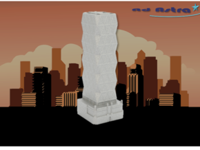 Hearst Tower - New York (1:2000) in White Natural Versatile Plastic