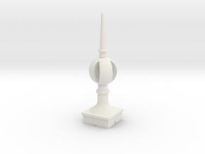 Signal Finial (Open Ball) 1:24 scale in White Natural Versatile Plastic