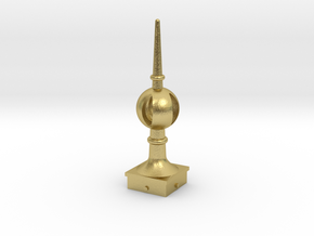 Signal Finial (Open Ball) 1:24 scale in Natural Brass