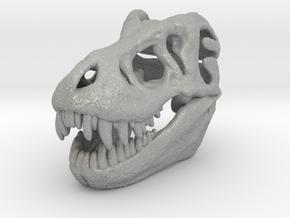T-Rex Skull 30mm Pendant - Keychain in Aluminum