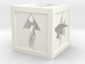 Kill Team Token Dice - 10mm in White Processed Versatile Plastic: Extra Small