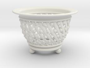 Neo Pot Spiral 3in.  in White Natural Versatile Plastic
