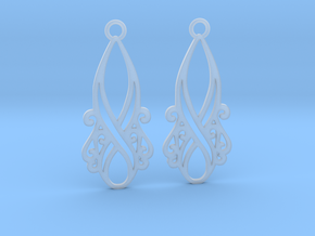 Lorelei earrings in Smooth Fine Detail Plastic: Small