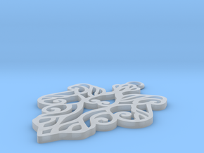 Alarice pendant in Smooth Fine Detail Plastic: Small