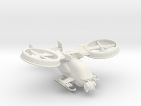 gunship v1 160 scale in White Natural Versatile Plastic