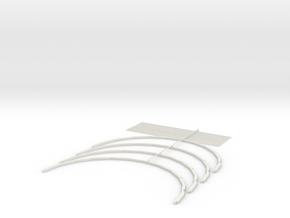 Knapford Roof Kit - Type 3 (Inside Section 2) in White Natural Versatile Plastic