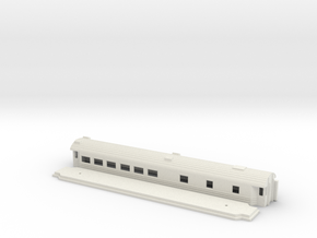 Ro3 version 2 - Swedish passenger wagon in White Natural Versatile Plastic
