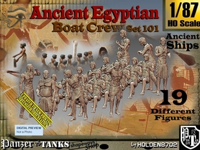 1/87 Ancient Egyptian Boat Crew Set101 in Smooth Fine Detail Plastic