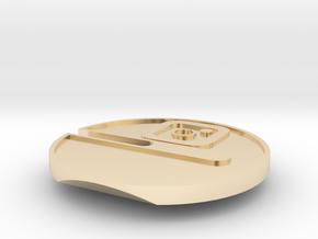 Buttcoin Cigar Stand with IG Logo (one half) in 14k Gold Plated Brass