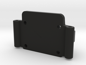 Team Losi JRX Front Bulkhead in Black Premium Versatile Plastic