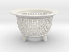 Neo Pot Edges 4in.  in White Natural Versatile Plastic
