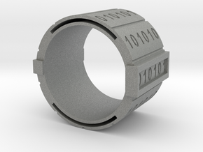 binary-ring-9US in Gray Professional Plastic