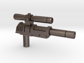 Megatron Pistol (3mm & 5mm grips) in Polished Bronzed-Silver Steel: Small
