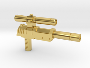 Megatron Pistol (3mm & 5mm grips) in Polished Brass: Small
