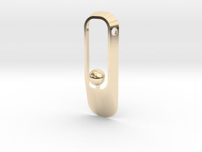 Purity NEW (sphere version) in 14k Gold Plated Brass