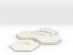 Trihex Base with 25mm insert. in White Natural Versatile Plastic