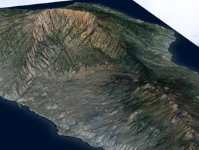 La Palma Map, Canary Islands - Large in Matte Full Color Sandstone