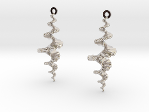 Fractal Sp. Earrings  in Platinum
