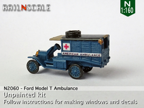 Ford Model T Ambulance (N 1:160) in Smoothest Fine Detail Plastic