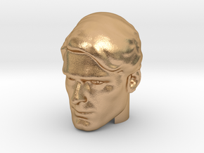 Superman head | Christopher Reeve in Natural Bronze