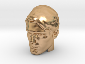Superman head | Christopher Reeve in Polished Bronze (Interlocking Parts)