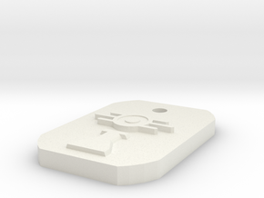 Scientist Dogtag in White Natural Versatile Plastic