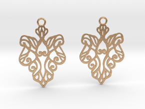 Alarice earrings in Natural Bronze: Small