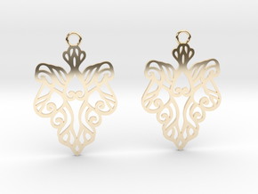 Alarice earrings in 14k Gold Plated Brass: Small