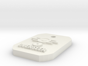 Overseer Dogtag in White Natural Versatile Plastic
