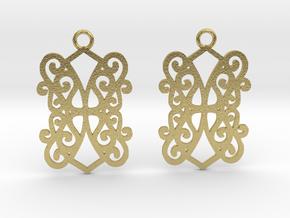 Ealda earrings in Natural Brass: Small
