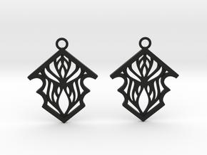 Earleen earrings in Black Natural Versatile Plastic: Small