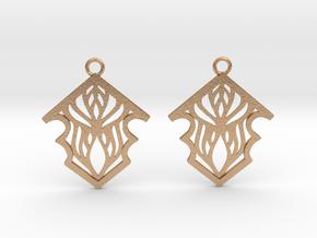 Earleen earrings in Natural Bronze: Small