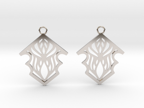 Earleen earrings in Rhodium Plated Brass: Small